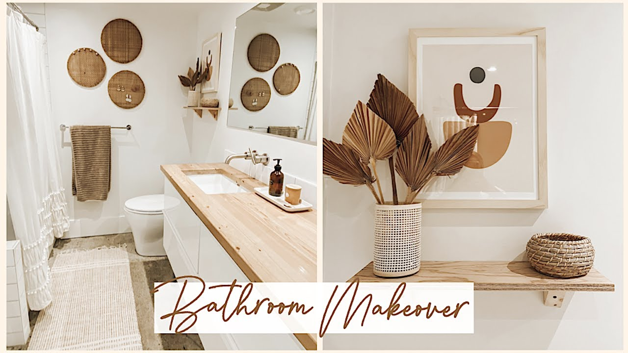 Rental Bathroom Makeover Urban Outfitters Boho Inspired