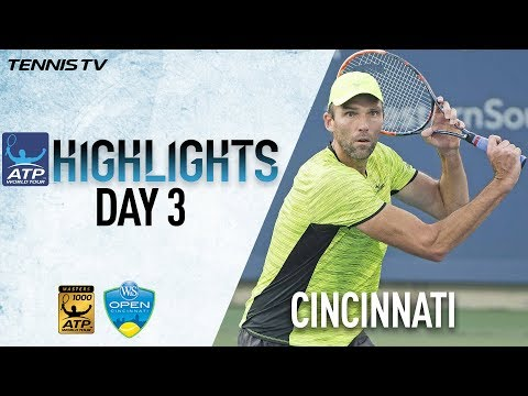 Tuesday Highlights: Karlovic Upsets 8th-Seed Tsonga Cincinnati 2017