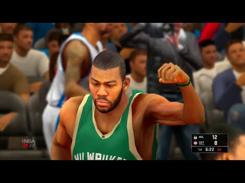 NBA 2K17 Milwaukee Bucks vs Detroit Pistons