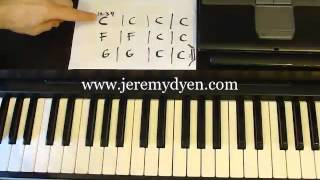 Learn The 12 Bar Blues In 5 Minutes http://www.jeremydyen.com/piano-lessons.html
