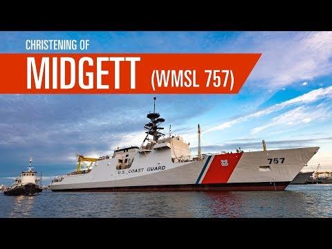 Midgett (WMSL 757) Christening | Ingalls Shipbuilding | Pascagoula, Mississippi