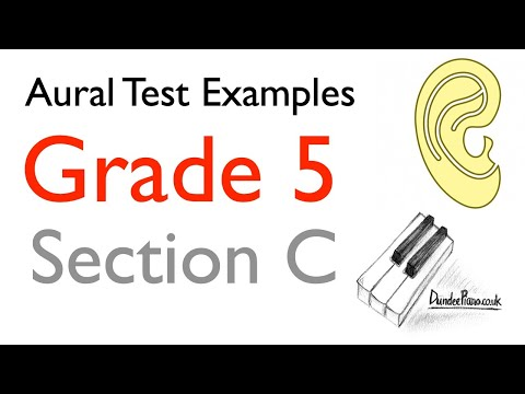 Aural Test Examples: Grade 5 ABRSM - Section C