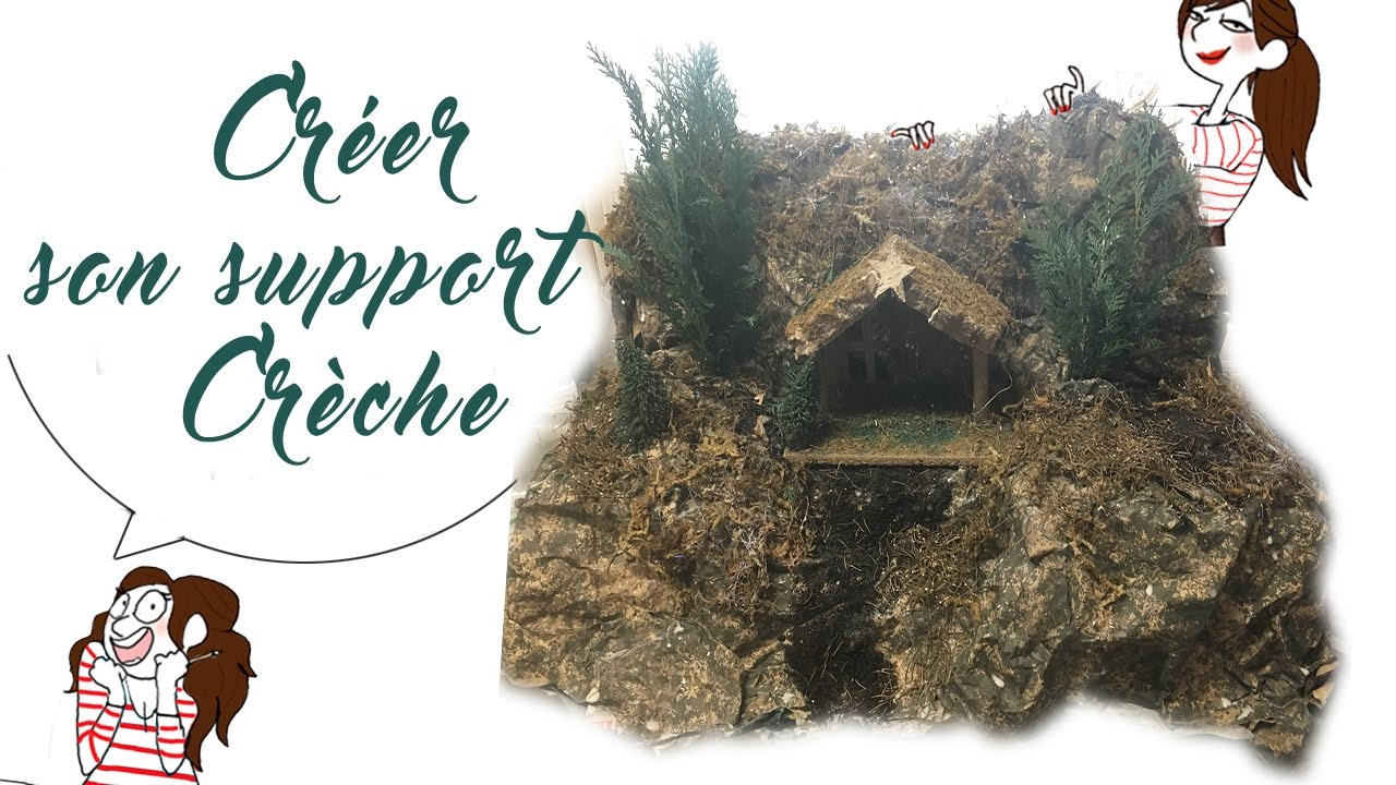 Cr er son support cr che de no l youtube - Fabriquer un support pour village de noel ...