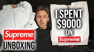 I SPENT $9000 ON SUPREME UNBOXING feat Supreme Nas, Nike Air Force SB, Patchwork, & Hysteric Glamour