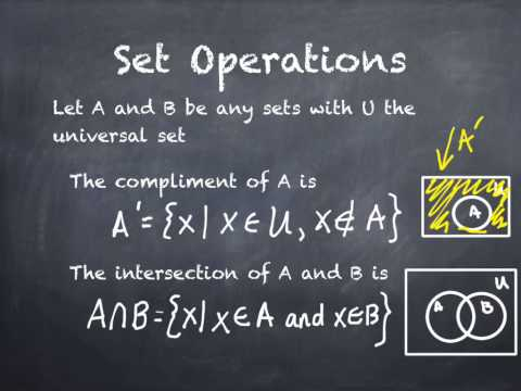 2.3 Set Operations and Cartesian Products A (part 1)