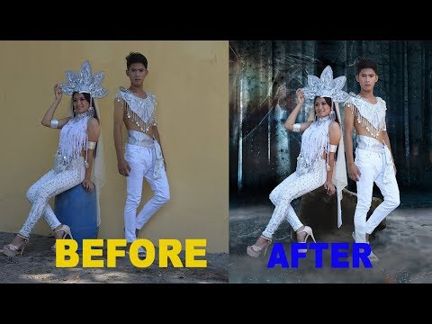 PHOTOSHOP TUTORIAL   HOW TO CHANGE BACKGROUND FAST AND EASY thumbnail
