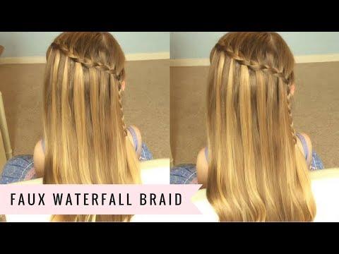 faux waterfall braid sweethearts