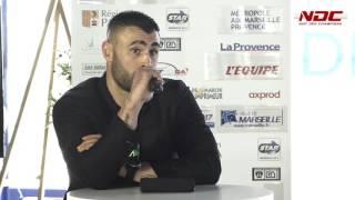 conférence de presse du palais des sports à Marseille - Yohan Lidon