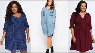 видео Джинсовые платья для полных женщин: модные фасоны и модели