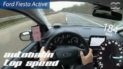 Ford Fiesta Active 1.0 Ecoboost (2019) - Autobahn Top Speed / Acceleration / Test Drive POV