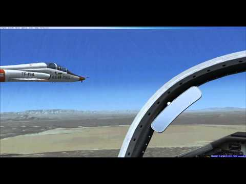 USAF T-38 formation in the EDW complex - P3D / FSX