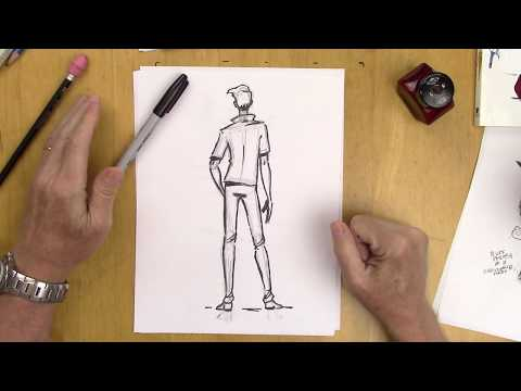 how-to-draw-a-man-in-a-back-view---step-by-step