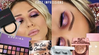 FIRST IMPRESSIONS(ABH NORVINA, BENEFIT HELLO HAPPY, HUDA REAL BAKE) || GIO DREVELI ||