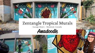 Zentangle Tropical Montreal Murals - Amadoodle