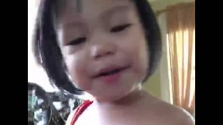 "Baby girl dubsmash ""Hi I love you"""