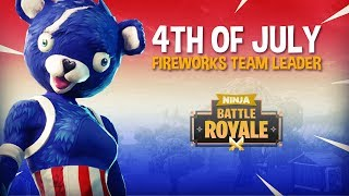 NEW 4th of July Fireworks Team Leader Skin! - Fortnite Battle Royale Gameplay - Ninja