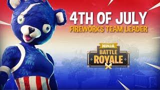 NOUVEAU 4 Juillet Feux d'artifice Chef d'équipe Skin! - Fortnite Battle Royale Gameplay - Ninja