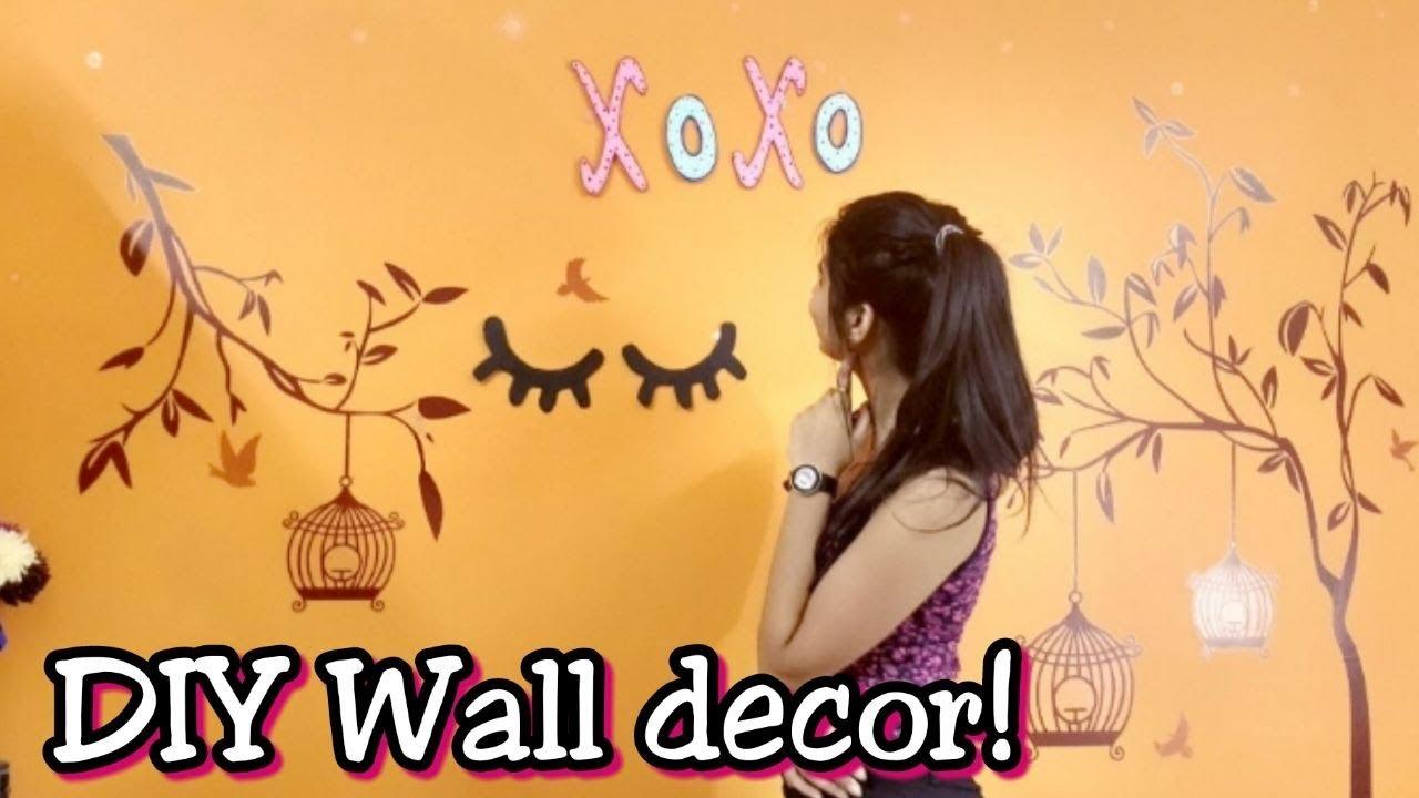 DIY Wall Decor ideas |Amazon wall stickers | Under INR 300 | XOXO ...