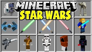 Minecraft STAR WARS MOD | LIGHTSABERS, BLASTERS, STARFIGHTERS, & MORE!