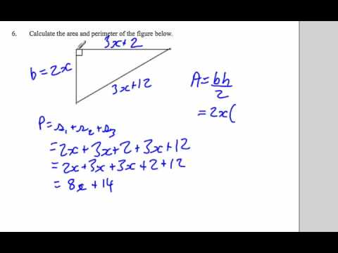 Perimeter of a triangle algebra and adding like terms youtube perimeter of a triangle algebra and adding like terms ccuart Gallery