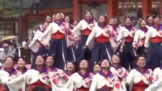 京炎 そでふれ!京小町(京都さくらよさこい2018・岡崎会場)