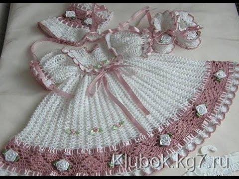 Crochet Baby Dress Lacy Crochet Baby Dress Pattern 25 Youtube