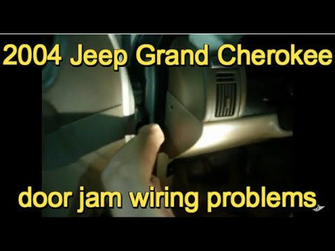 hqdefault 2004 grand cherokee door jam wiring problem youtube 2004 jeep grand cherokee driver side door wiring harness at readyjetset.co
