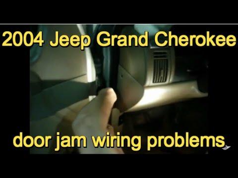 2004 Grand Cherokee door jam wiring problem - YouTube