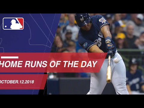 Watch all the home runs from October 12, 2018