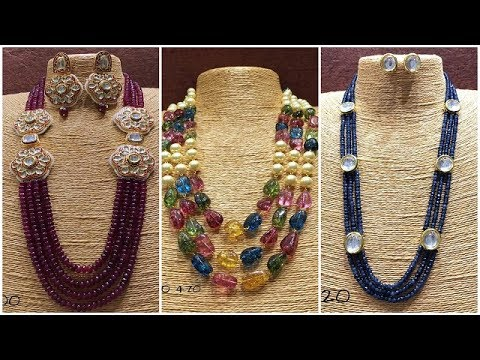 beads necklace handicraft for with brass set earrings jewellery designer buy ethnic designs dp traditional color pendant multi