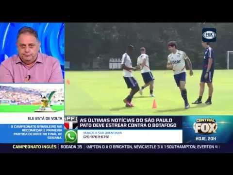 ESTREIAS NO SÃO PAULO! Pato e Tchê Tchê serão titulares na estreia no Brasileirão