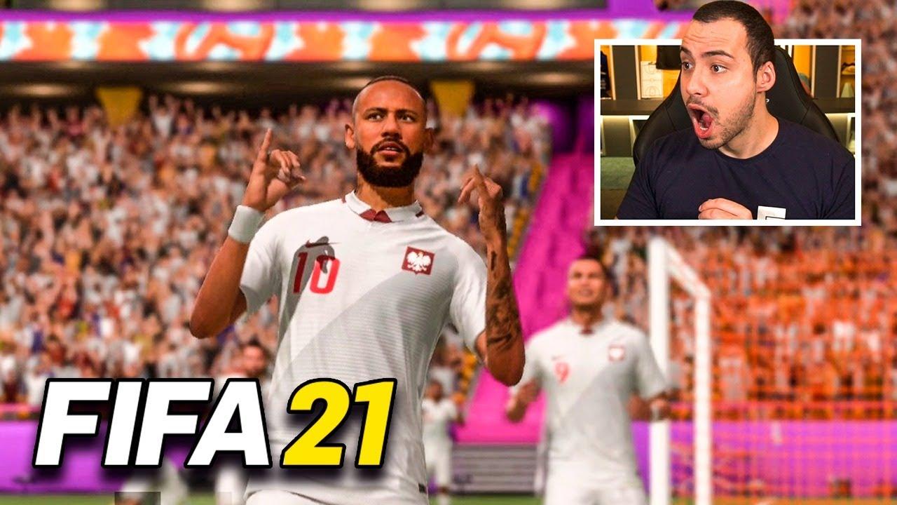 MINHA PRIMEIRA VEZ JOGANDO FIFA 21! (Jogo está bom?!)