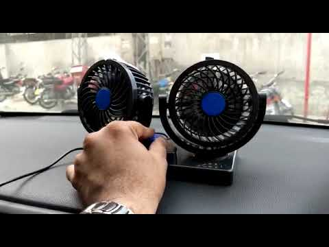 Rotatable Dual Speed Car Electric Fan | Car Fan | Summer Gadgets