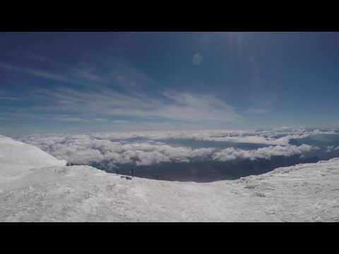 Volcano Villarrica at the top