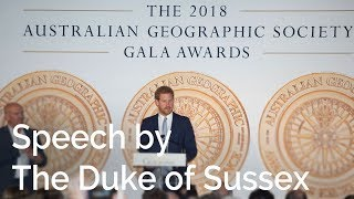 The Duke of Sussex at the Australian Geographic Society Awards | Royal Visit Australia