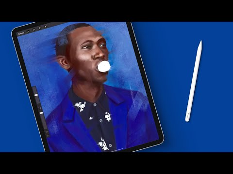 How To Paint A Digital Portrait In Procreate (With Realtime Footage)
