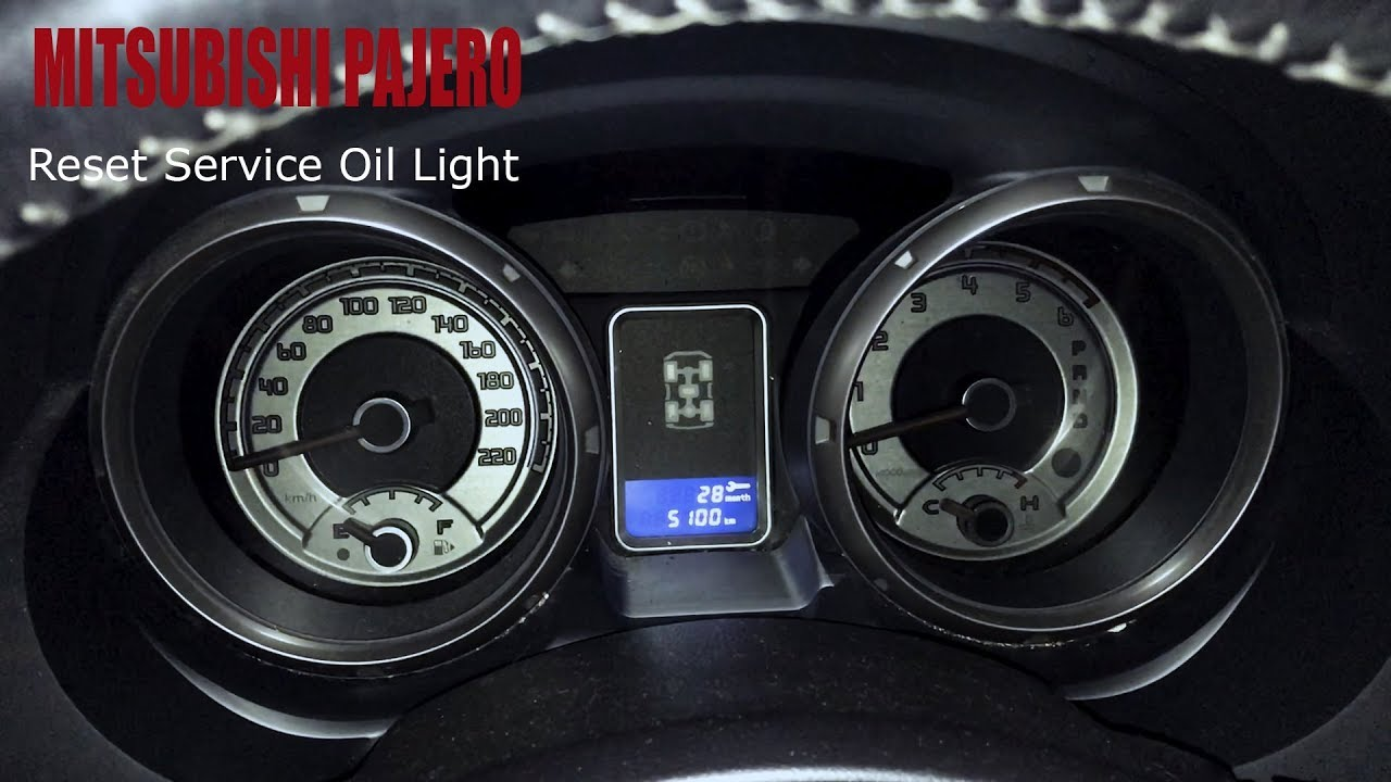 Mitsubishi Pajero - Reset Service Oil Light
