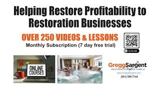 Small Business Consulting - How to start a water damage business