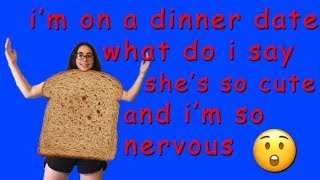 I made a suit out of BREAD and wore it on a FIRST DATE