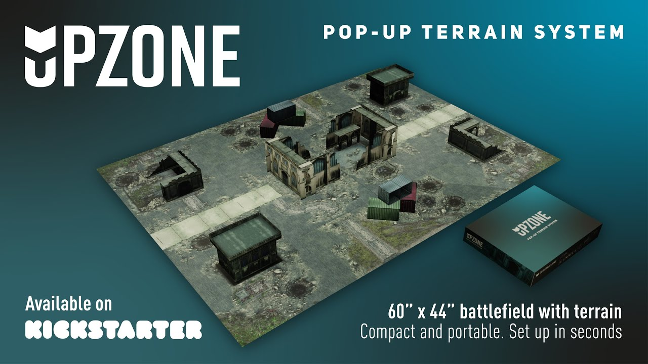 Upzone - The pop-up wargame terrain system