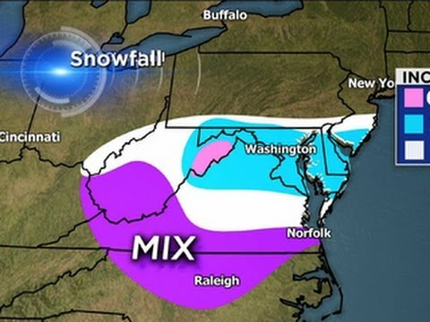 Snow, ice from Midwest to Mid-Atlantic States