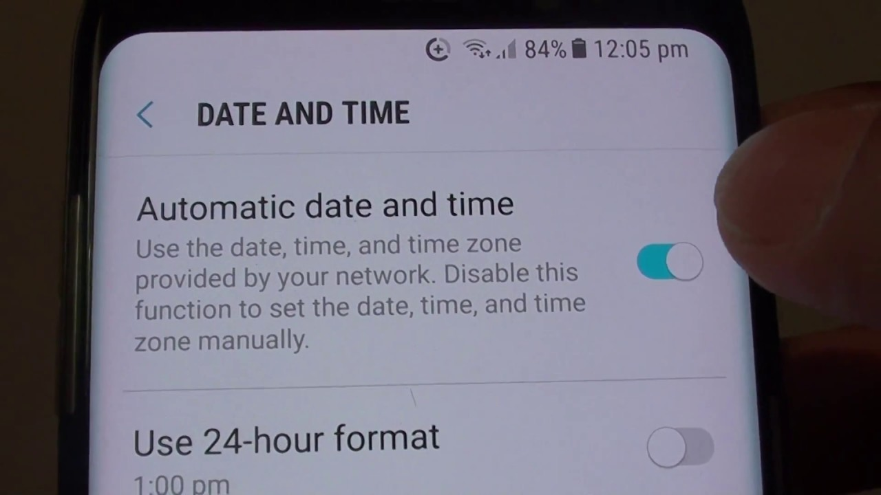 Samsung Galaxy S8: How to Enable / Disable Automatic Date and Time