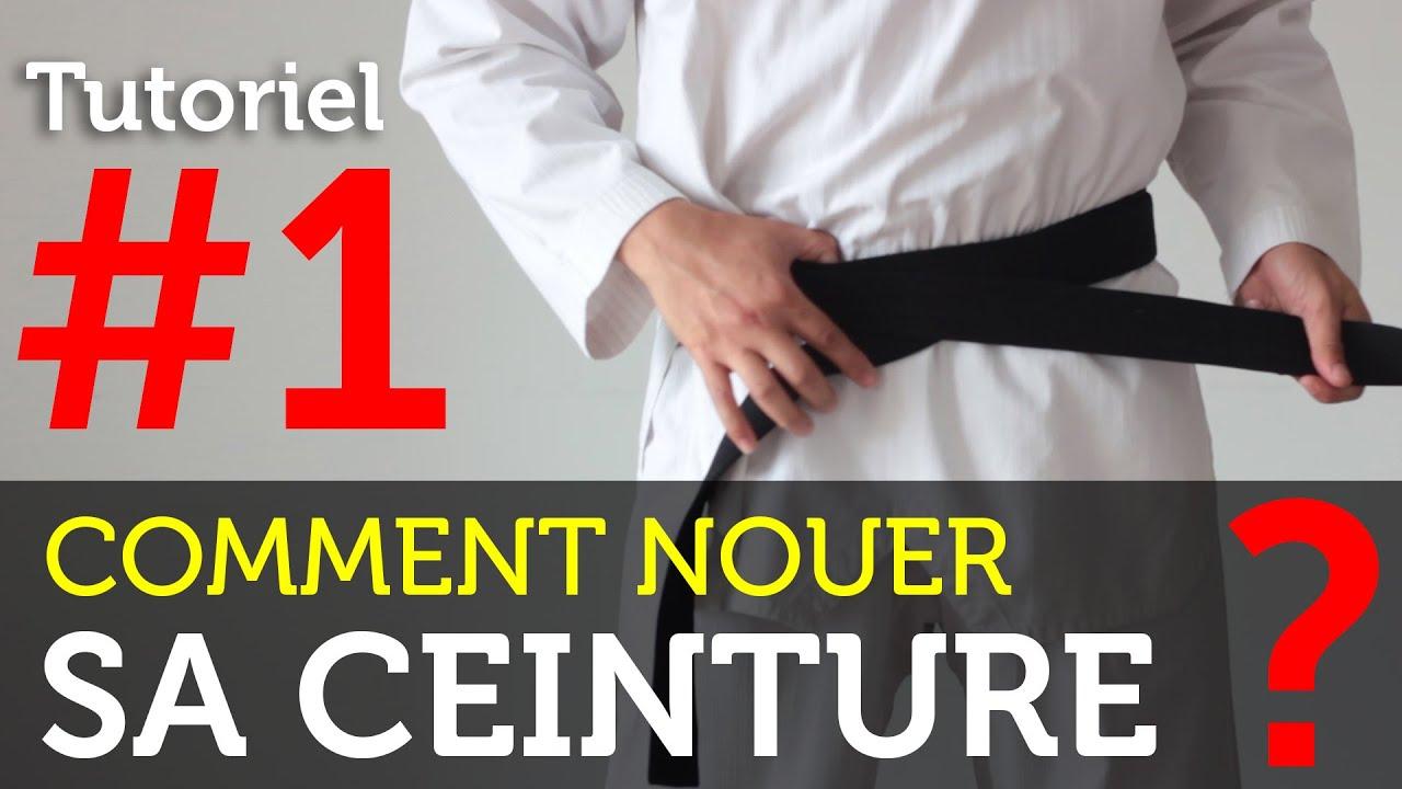 TUTORIEL   Comment nouer sa ceinture de Taekwondo, Karaté, Judo ... ff460e50b04