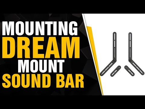 Mounting Dream Soundbar Mount Sound Bar TV Bracket For Mounting Above Or Under TV Fits Mos