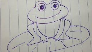 Cách vẽ con ếch đơn giản cho bé học vẽ - How to draw frog easy