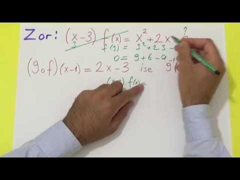 kolaydan zora FONKSİYONLAR Şenol Hoca Matematik
