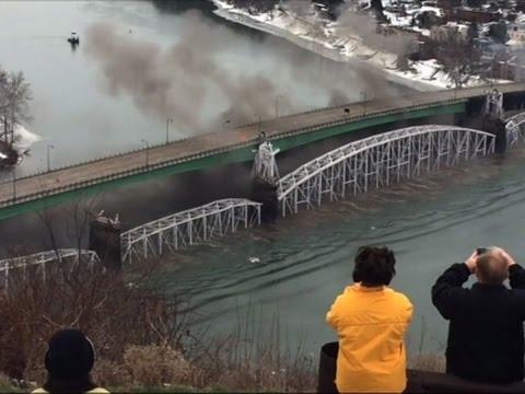 Raw: Workers Implode Century-Old Bridge in Penn.