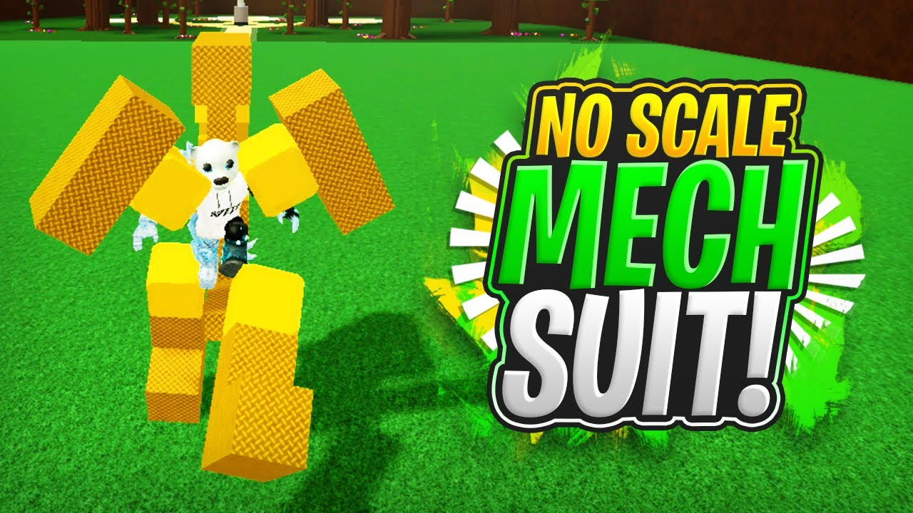 NO Scale Tool MECH SUIT!!! (Simple Tutorial!) - Build a Boat For Treasure ROBLOX