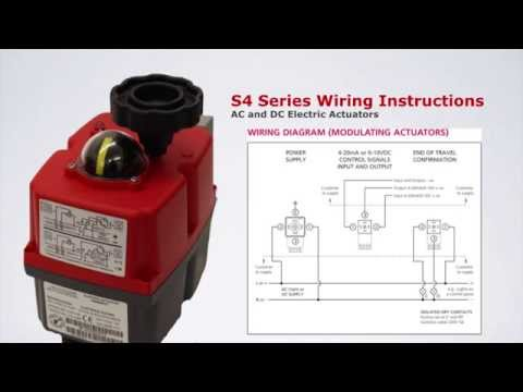 S4 Multi-Voltage Reversible Electric Actuator Wiring ... on