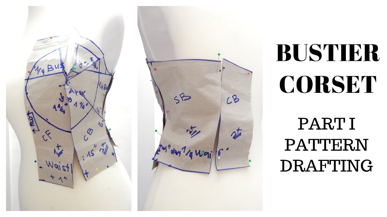 How to Draft Pattern | Bustier/Tube/Corset/Strapless ...